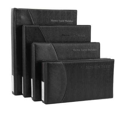 齐心 A1613-X 易分类大容量商务名片册 4孔夹 600枚 黑色