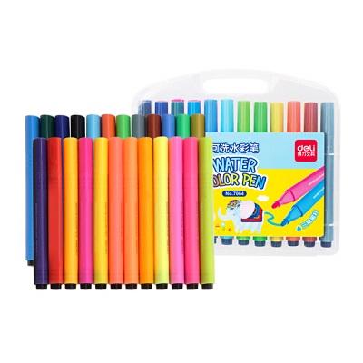 得力7064 24色水彩笔