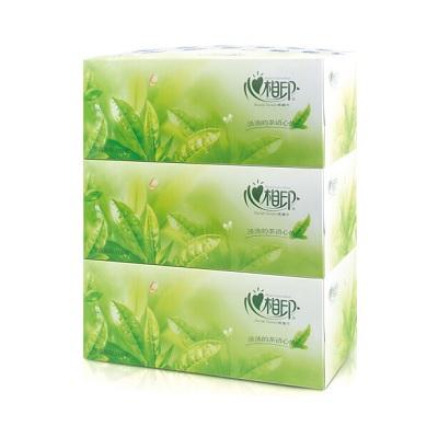 心相印茶语系列 盒抽2层200抽抽纸(3包)