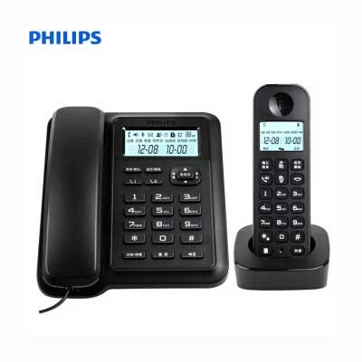 飞利浦数字无绳电话机DCTG167一拖一黑色