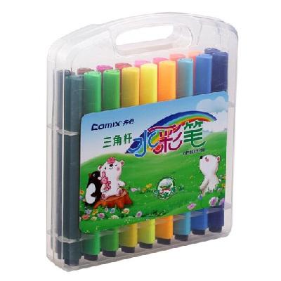 齐心OP1005-18三角杆可洗水彩笔