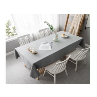 3m*1.2m灰色棉麻桌布