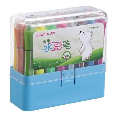 齐心OP1004-24可水洗印章水彩笔