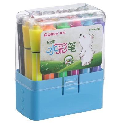 齐心OP1004-18可水洗印章水彩笔
