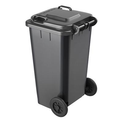 环群分类垃圾桶-其他垃圾(灰色带轮100L)