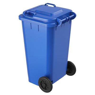 环群分类垃圾桶-可回收垃圾(蓝色带轮100L)
