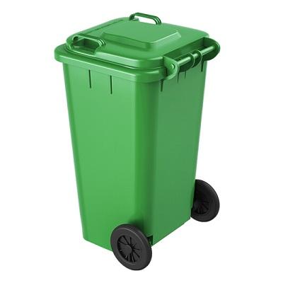 环群分类垃圾桶-厨余垃圾(绿色带轮100L)