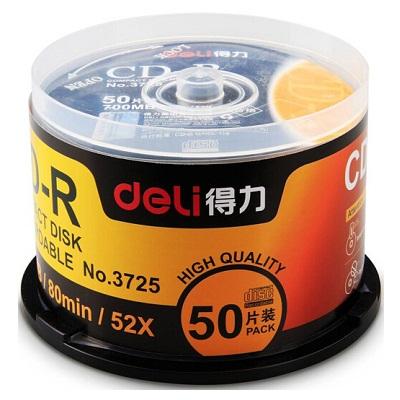 得力3725 CD-R刻录光盘