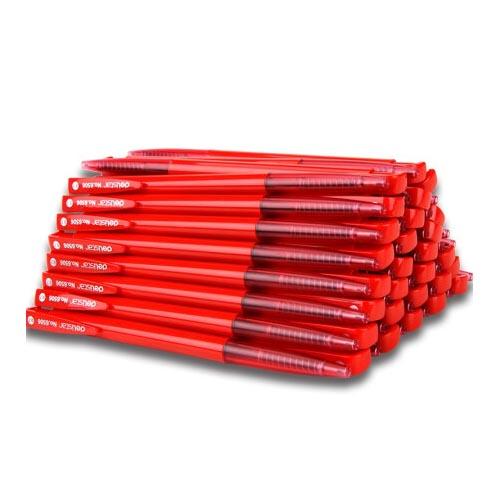 得力6506按动圆珠笔 0.7mm 红色 60支/盒