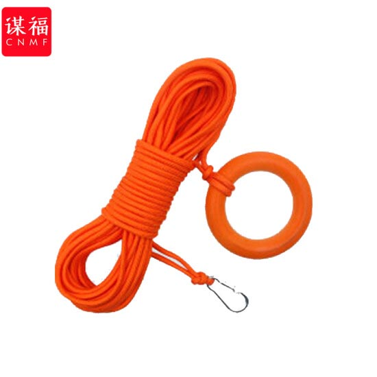 谋福30米救生绳+钩+浮圈套装