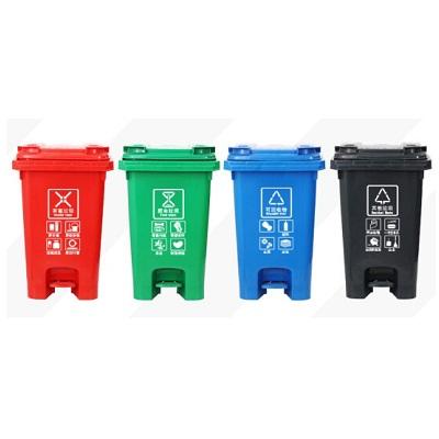 环群分类垃圾桶-厨余垃圾(脚踏60L)