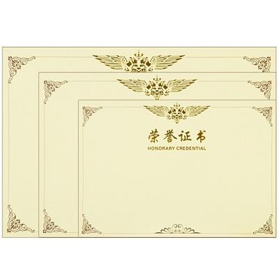 得力3232 12K荣誉证书内芯(50张/包)
