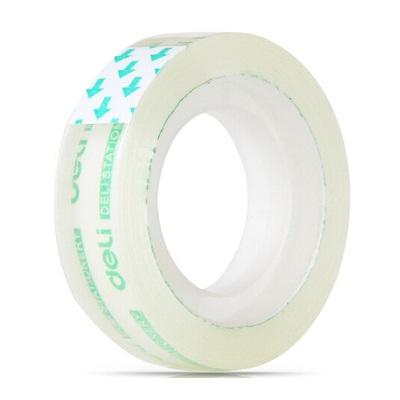 得力30029透明高粘易撕文具胶带/小胶带 12mm*18m(单卷)