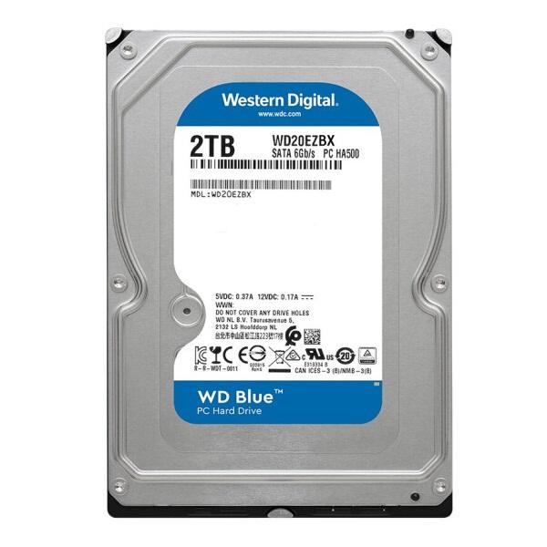 西部数据WD20EZBX机械硬盘2TB SATA6Gb/s 256MB