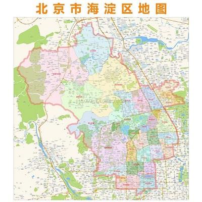 北京市海淀区地图1.5*1.1m