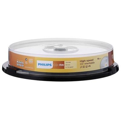 飞利浦CD-RW可擦写空白刻录光盘(片)