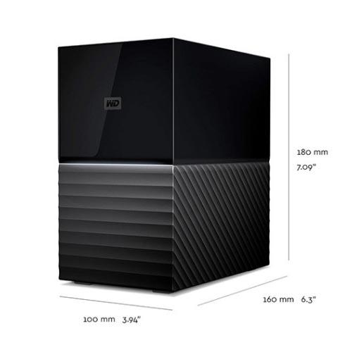 西部数据WDBFBE0160JBK移动硬盘 双盘 16TB 3.5英寸My Book/Duo