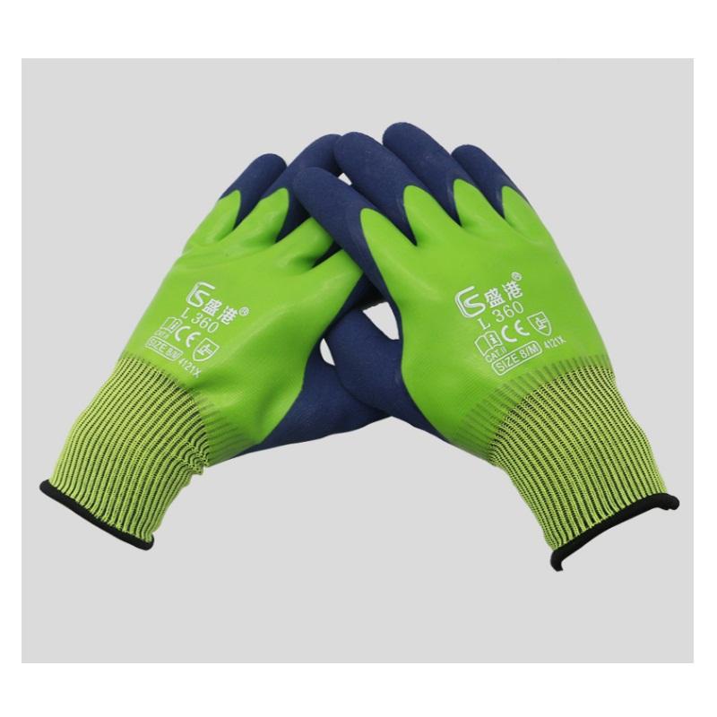 盛港L360加厚全胶手套颜色随机单双