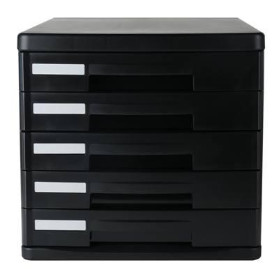 得力9773五层硬塑文件柜(黑)(只)