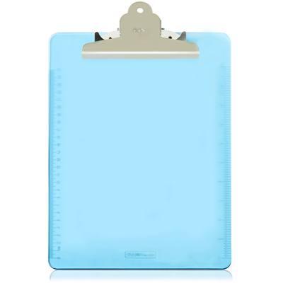 得力9252透明书写板夹(浅蓝)(只)
