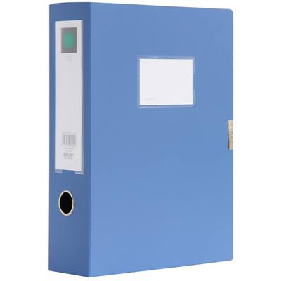 得力5604蓝色档案盒320*240*76mm