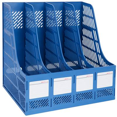 得力9848Z四联文件框(蓝色)