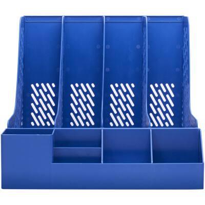得力78981四联文件框(蓝)