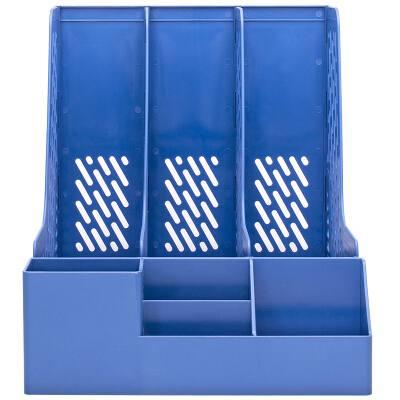 得力78980三联文件框(蓝)