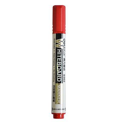 得力思达S502可加墨白板笔(红色)单支