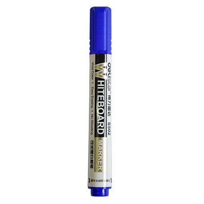 得力思达S502可加墨白板笔(蓝色)单支