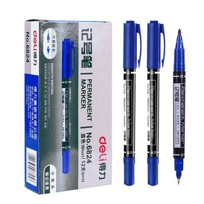 得力思达6824小双头记号笔(蓝)(支)