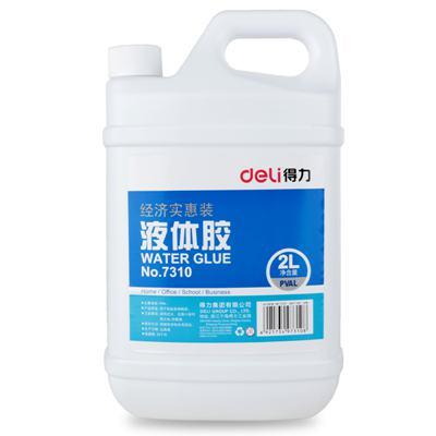 得力7310大桶装液体胶水 玩具材料胶水2L(单桶)