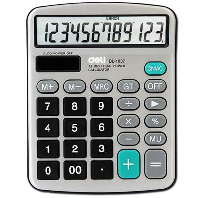 得力1837桌面计算器(银色)(台)