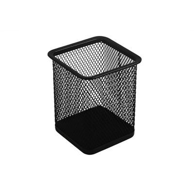 得力9174方形笔筒(黑)(只)