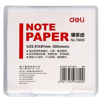 得力7600便条纸带盒91*87(白)(盒)