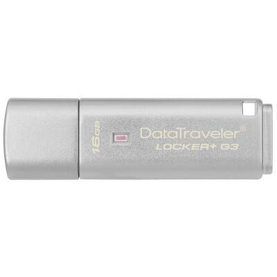 金士顿 DTLPG3 16G U盘 USB3.0 256位AES硬件金属加密U盘