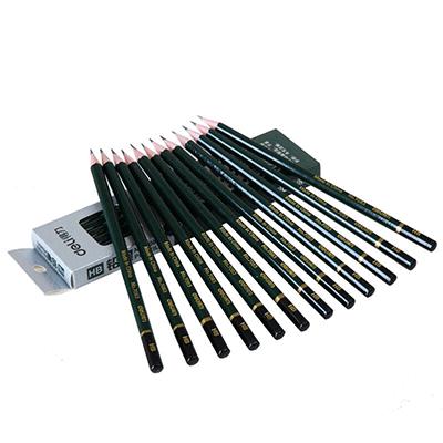得力 7083-HB绘图铅笔 12支装