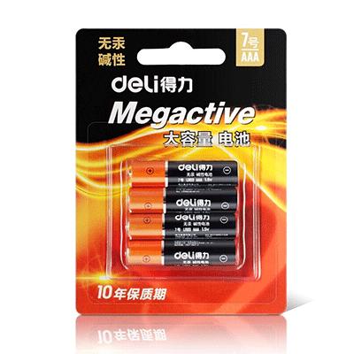 得力 18505碱性电池 4粒装