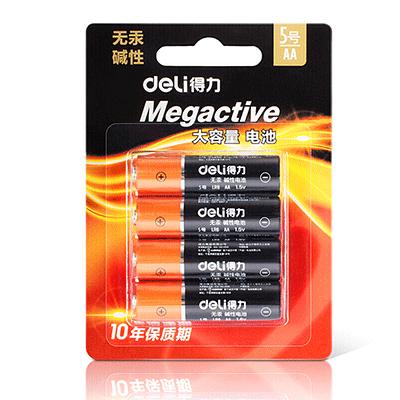 得力18501碱性电池 4粒装