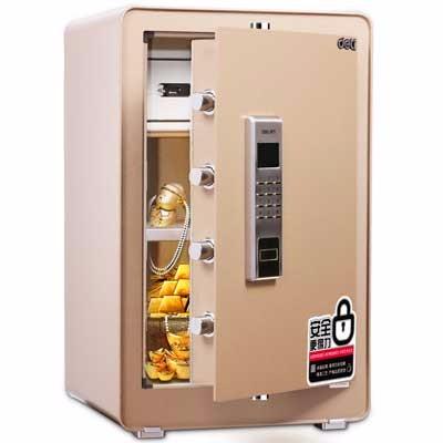 得力4084电子密码保管箱(金色)