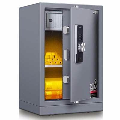 得力3644A电子密码保管箱(浅灰)