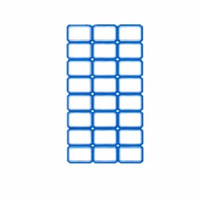 创易不干胶标签贴 CY7525 38*24mm 蓝色 24枚/张 100张/包