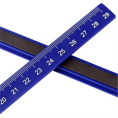 得力7860白板强力磁条 刻度29cm混色2把/包