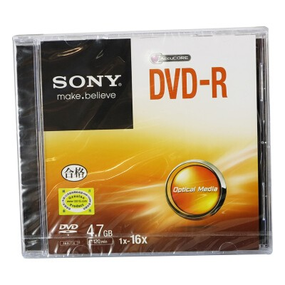 索尼DVD-R/16速4.7G单片盒装