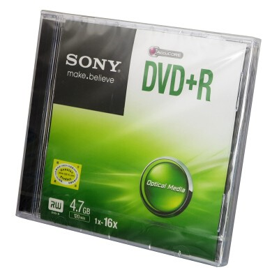 索尼DVD+R/16速4.7G单片盒装