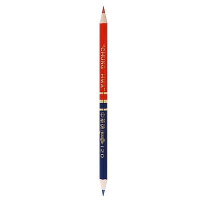 中华牌120红蓝双头铅笔/双色铅芯单支