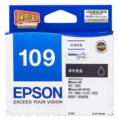爱普生T1091黑色墨盒C13T109180