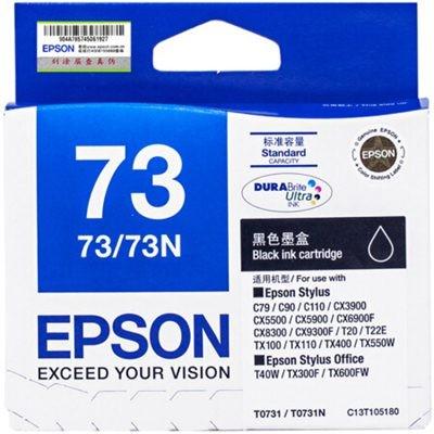 爱普生T0731黑色墨盒C13T105180
