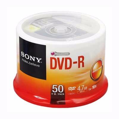 索尼DVD-R/16速4.7G单片(50P)