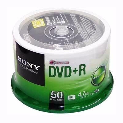 索尼DVD+R/16速4.7G单片(50P)